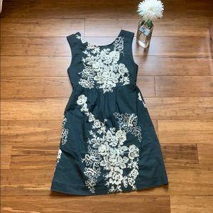 Jcrew embroidered cotton tank dress